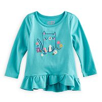 Baby Girl Jumping Beans® Graphic Long-Sleeve Tulip-Hem Tunic