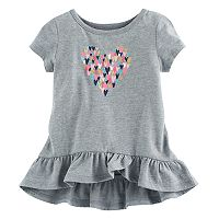 Baby Girl Jumping Beans® Graphic Short-Sleeve Tulip-Hem Tunic