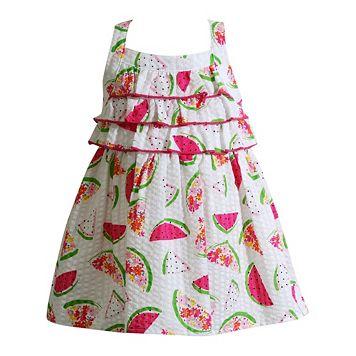 Baby Girl Youngland Watermelon Seersucker Dress