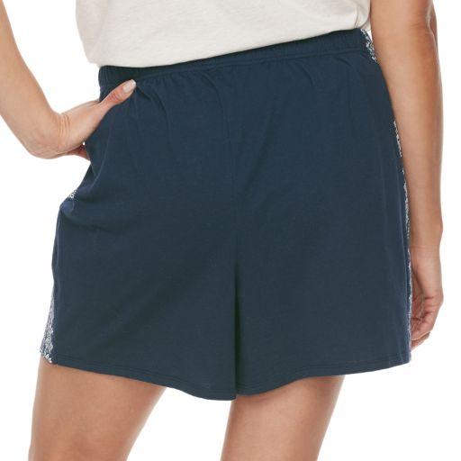 Plus Size SONOMA Goods for Life™ Mix & Match Pajamas: Jersey Shorts
