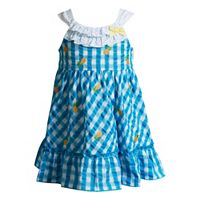 Baby Girl Youngland Pineapple Plaid Seersucker Dress