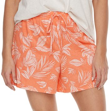 Plus Size SONOMA Goods for Life™ Mix & Match Pajamas: Palm Tree Jersey Shorts