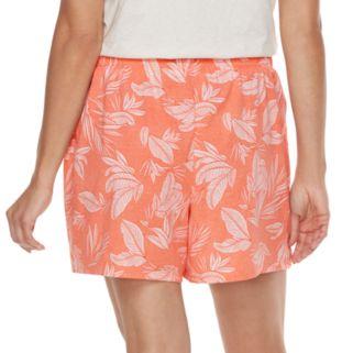 Plus Size SONOMA Goods for Life™ Mix & Match Pajamas: Palm Tree Jersey Shorts