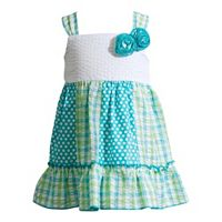 Baby Girl Youngland Print Ruffled Seersucker Dress