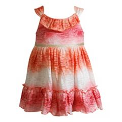 Baby Girl Youngland Ombre Burnout Dress
