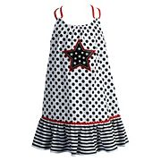 Baby Girl Youngland Polka-Dot Star Applique Patriotic Sundress