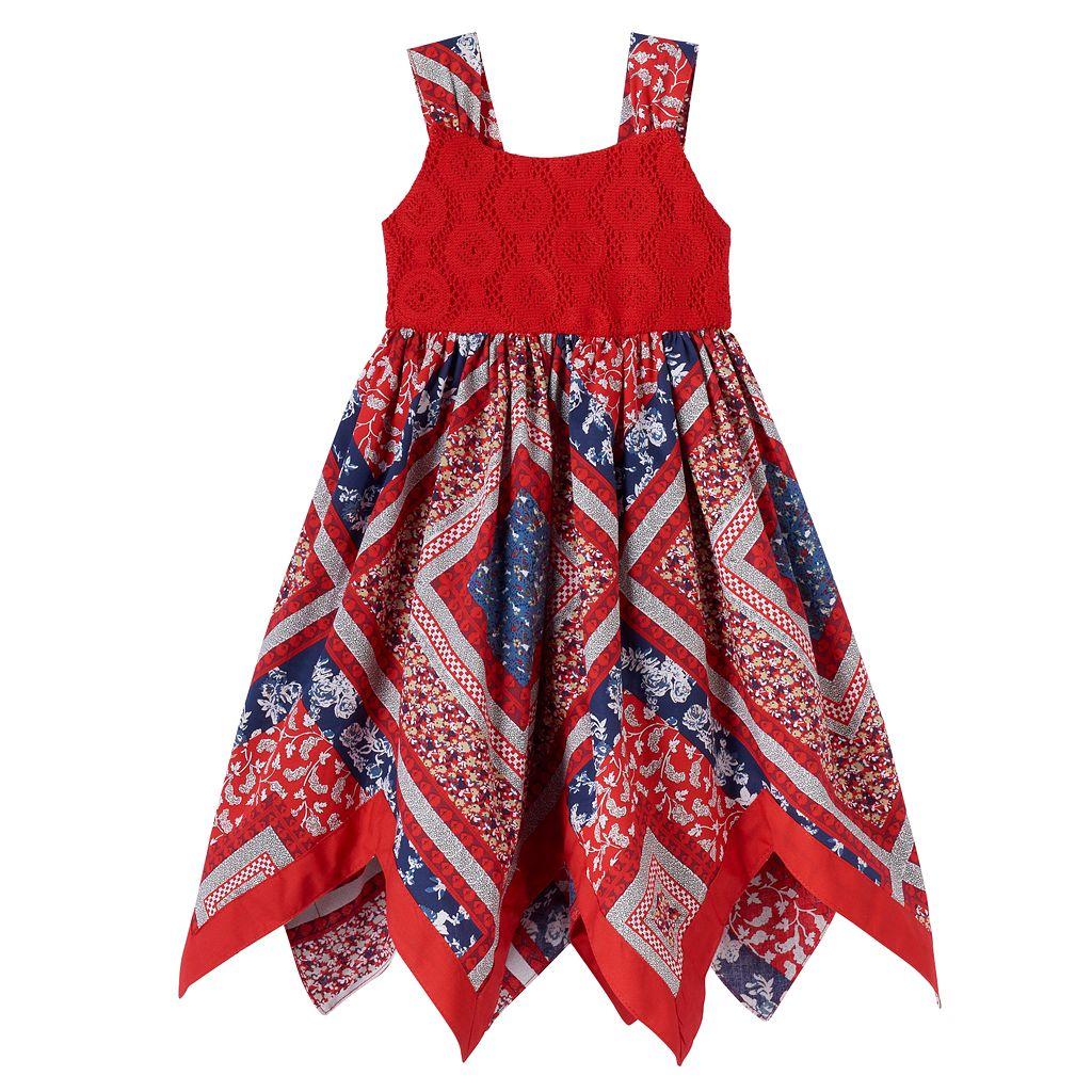 Baby Girl Blueberi Boulevard Bandana Crochet Dress
