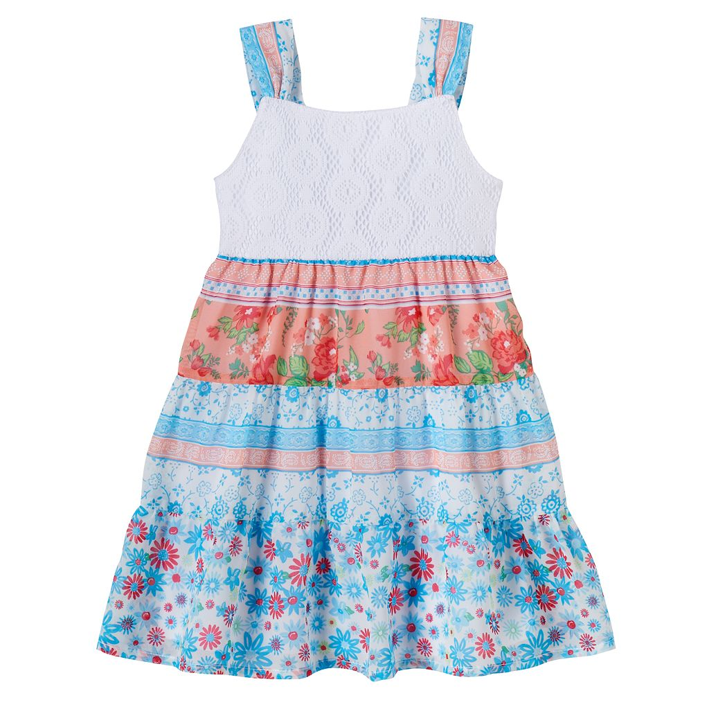 Baby Girl Blueberi Boulevard Crochet Tiered Dress