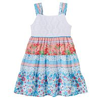 Baby Girl Blueberi Boulevard Crochet Tiered Dress