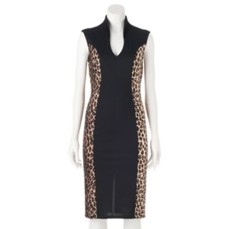 Juniors' Almost Famous Cheetah Bodycon Dress
