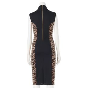 Juniors' Almost Famous Cheetah Bodycon Dress