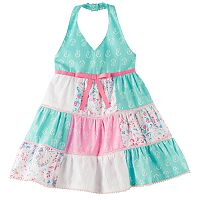 Baby Girl Blueberi Boulevard Patchwork Halter Sundress