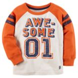 "Toddler Boy Carter's ""Awesome 01"" Raglan Graphic Tee"