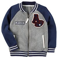 Toddler Boy Carter's Varsity Raglan Baseball Jacket