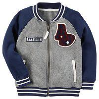 Toddler Boy Carter's Varsity Raglan Baseball Jacket