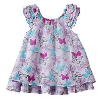 Baby Girl Blueberi Boulevard Butterfly Chiffon Dress