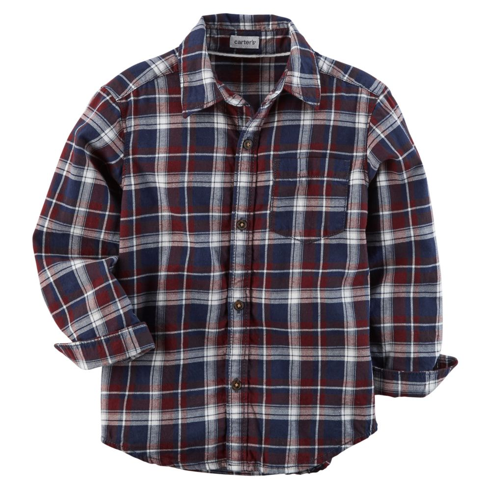 Boy Carter's Plaid Button Down Shirt