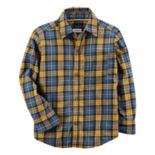 Toddler Boy Carter's Yellow & Blue Plaid Button-Front Shirt