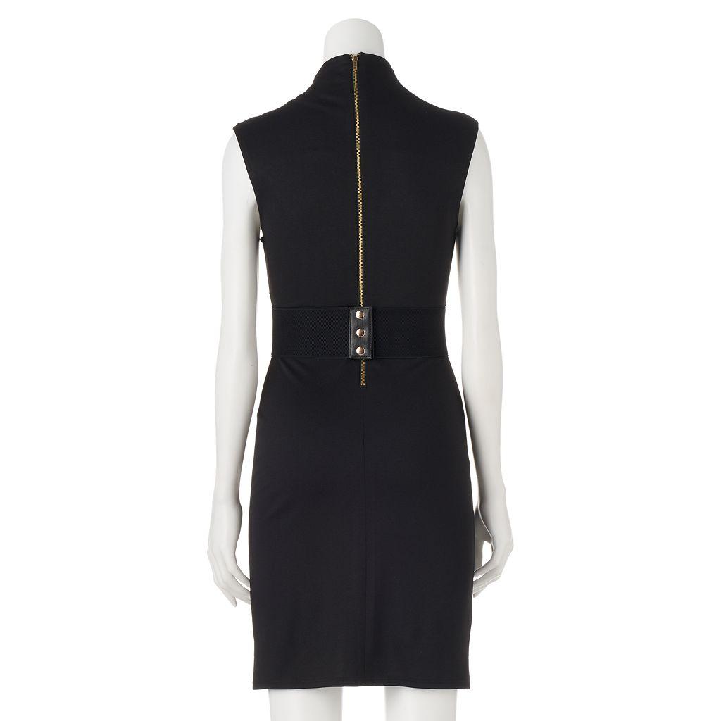 Juniors' Almost Famous Drop Shoulder Bodycon Dress