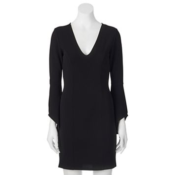 Juniors' Almost Famous Bell Sleeve Dress