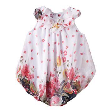 Baby Girl Blueberi Boulevard Floral Chiffon Sunsuit
