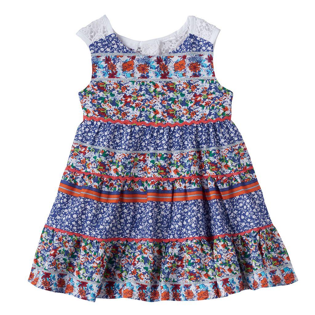Baby Girl Blueberi Boulevard Floral Crochet Dress