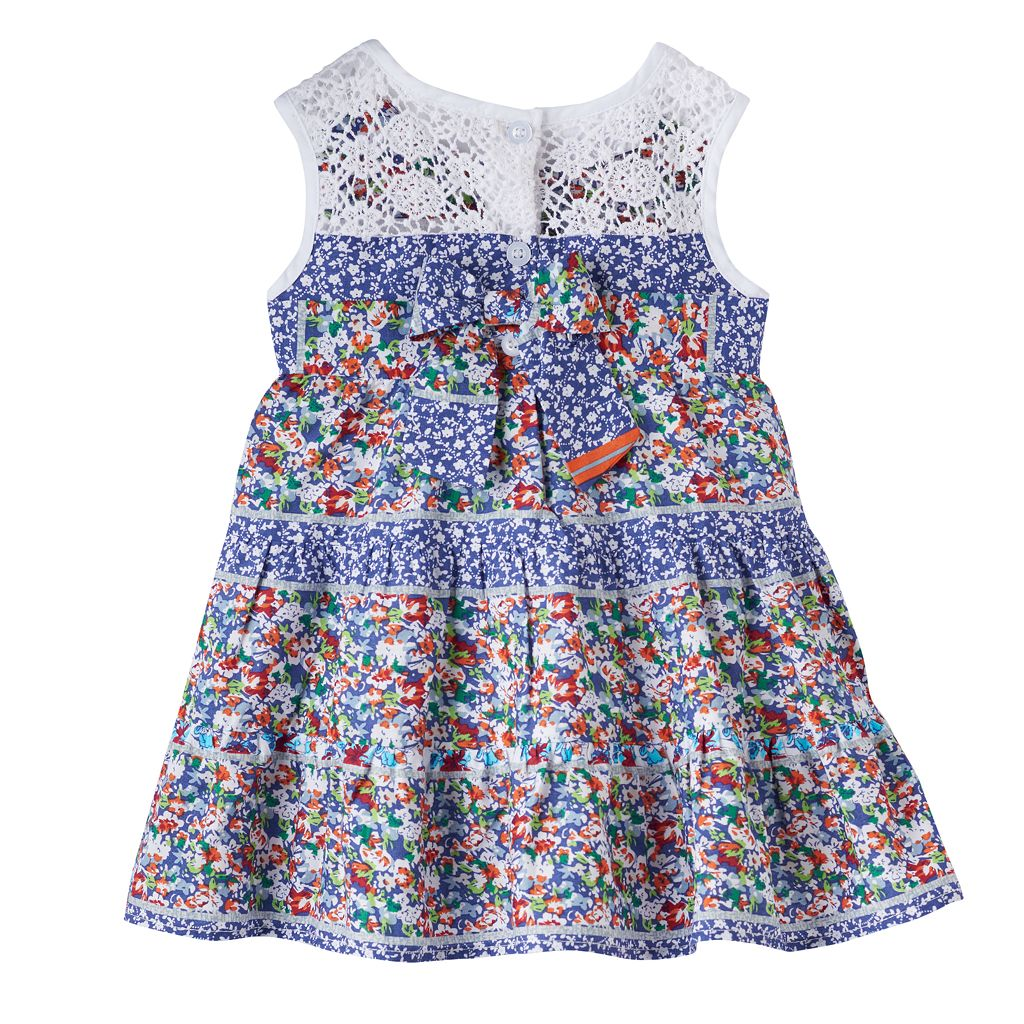Baby Girl Blueberi Boulevard Floral Crochet Dress