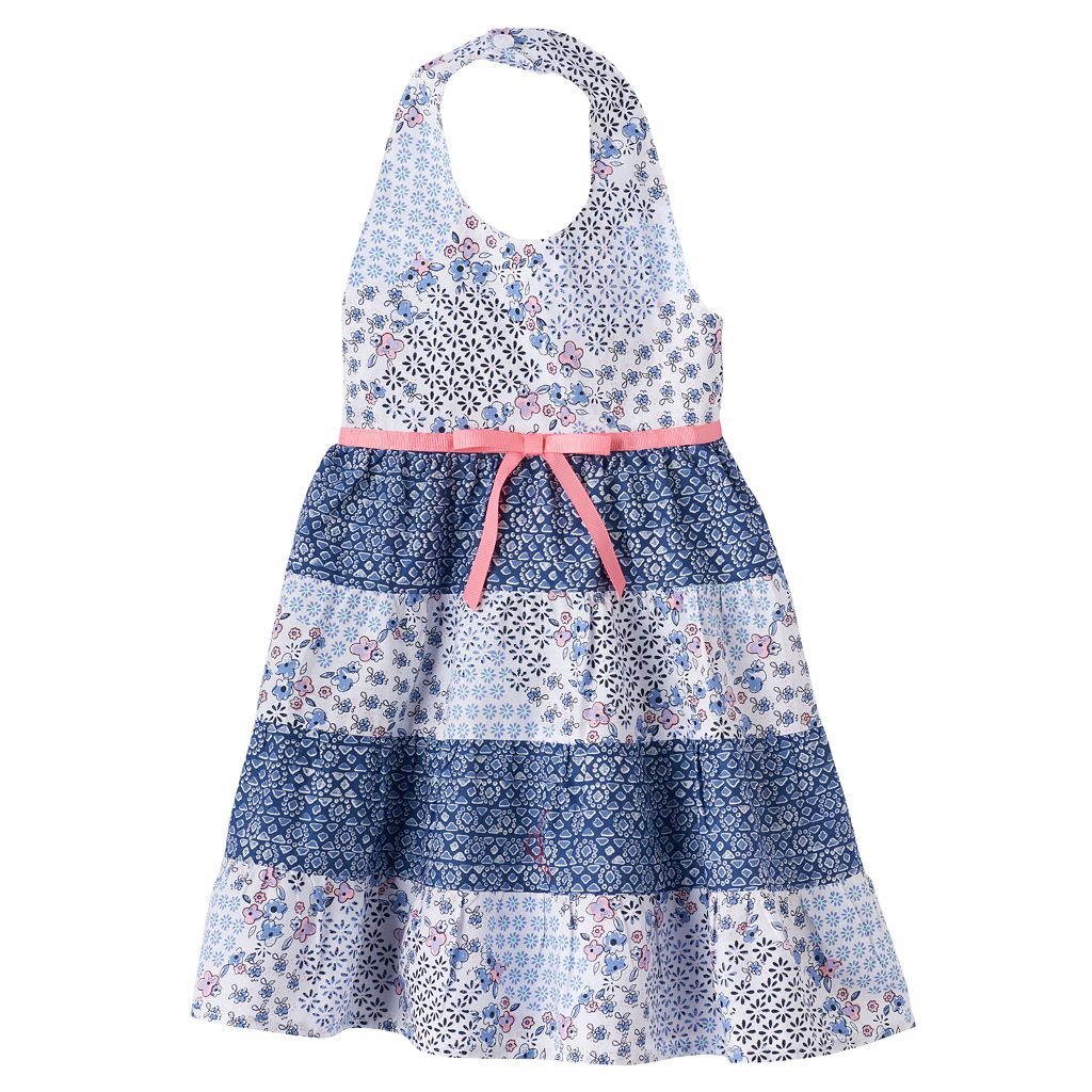 Baby Girl Blueberi Boulevard Floral Halter Dress