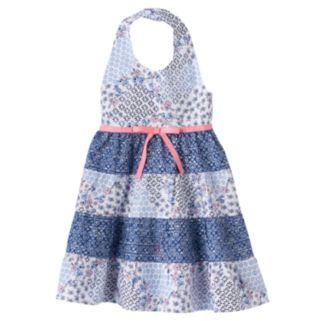 Baby Girl Blueberi Boulevard Floral Halter Dress