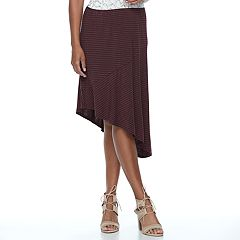 Women's Apt. 9® Asymmetrical Mix-Print Skirt