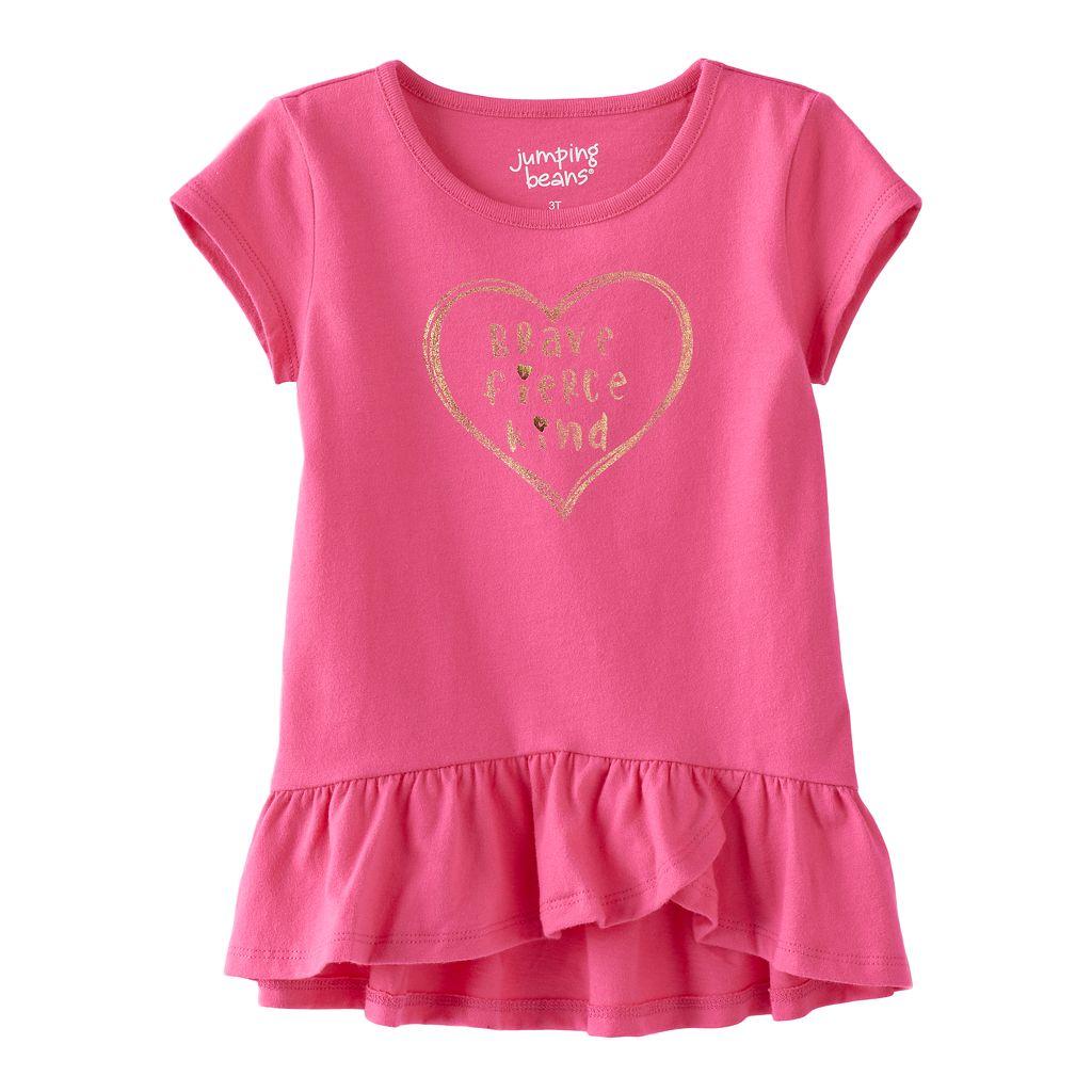 Toddler Girl Jumping Beans® Graphic Short-Sleeve Ruffled-Hem Tunic