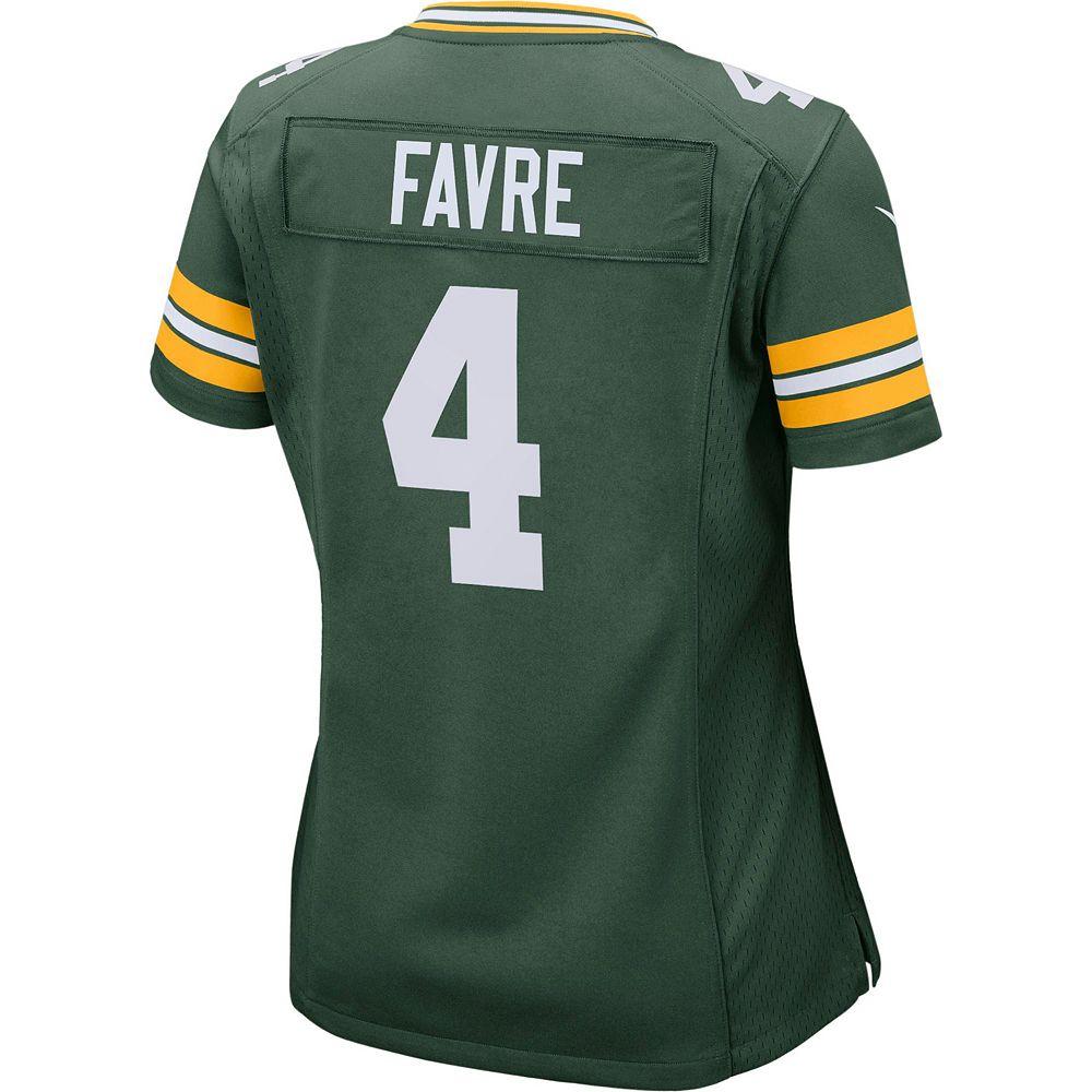 reputable site 8d8ad ca1f3 Women's Nike Green Bay Packers Brett Favre Replica Jersey