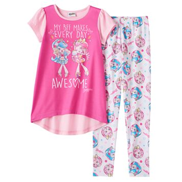 Girls 6-12 Shopkins Shoppies Jessicake & Bubbleisha Tunic & Bottoms Pajama Set