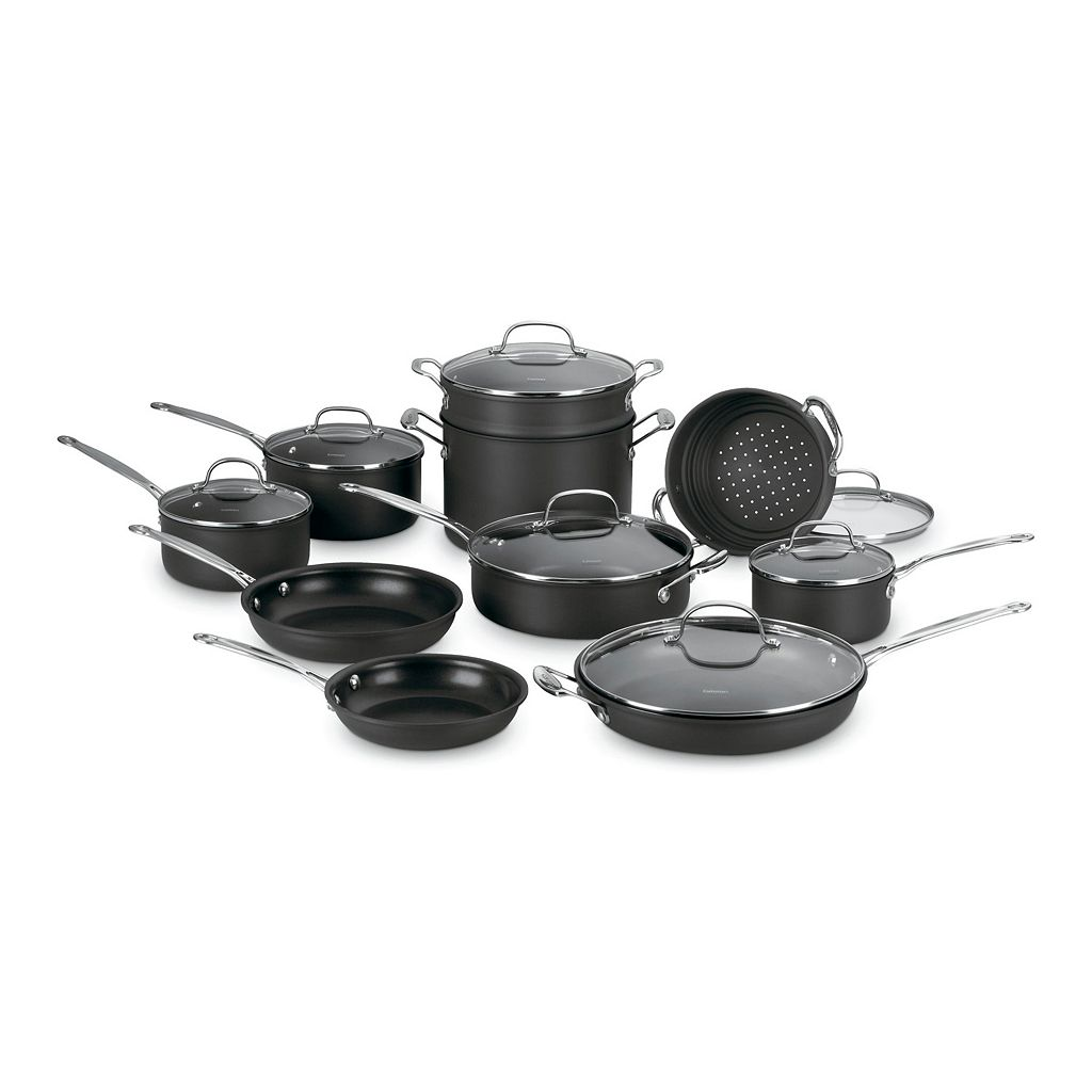 Cuisinart Chef's Classic 17-pc. Nonstick Hard-Anodized Stainless Steel Cookware Set