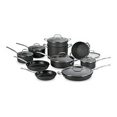 Cuisinart Chef's Classic 17 pc Nonstick Hard-Anodized Stainless Steel Cookware Set