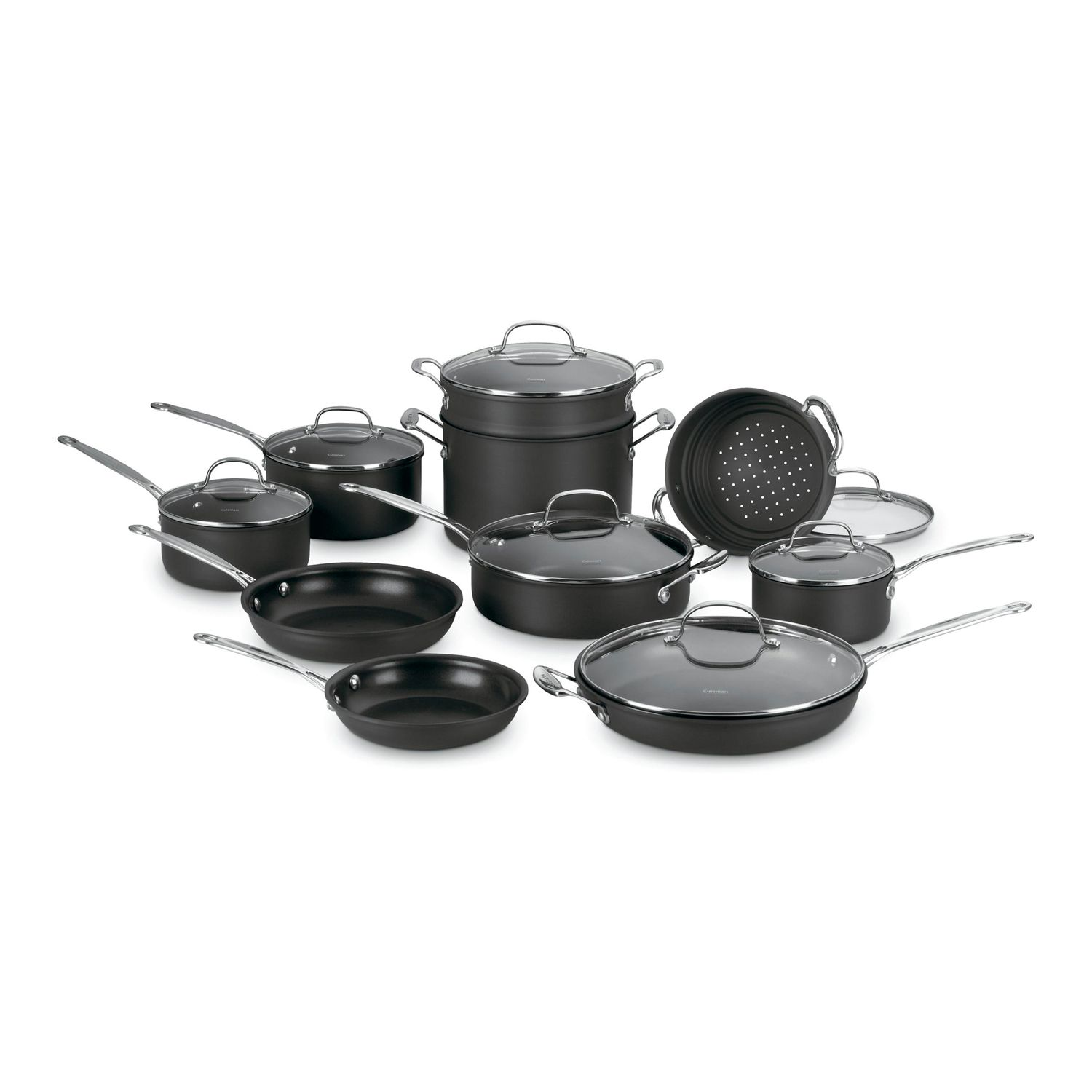 Nonstick Hard Anodized Cookware Set