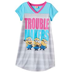 Girls 6-12 Despicable Me 3 Minions 'Trouble Makers' Dorm Nightgown