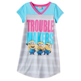 """Girls 6-12 Despicable Me 3 Minions """"Trouble Makers"""" Dorm Nightgown"""