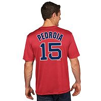 Men's Majestic Boston Red Sox Dustin Pedroia Name and Number Tee