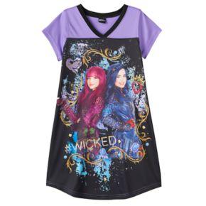 "Disney's Descendants Evie & Mal Girls 6-14 ""#Wicked"" Graphic Dorm Nightgown"