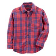 Toddler Boy Carter's Red & Blue Plaid Button-Front Shirt