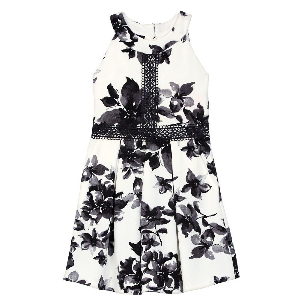 Girls 7-16 IZ Amy Byer Floral Texture Knit Halter Dress