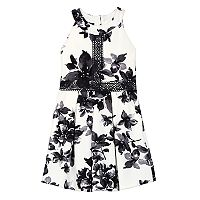 Girls 7-16 IZ Amy Byer Floral Texture Knit Halter Dress