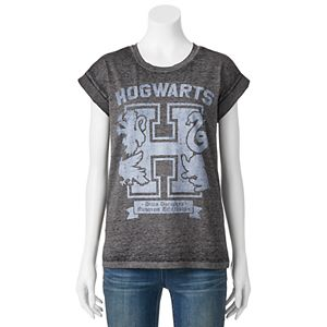 Juniors' Harry Potter Hogwarts Burnout Graphic Tee