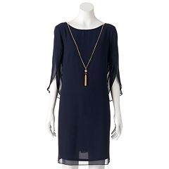 Women's MSK Navy Shift Dress