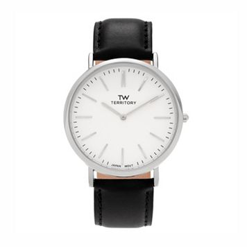 Territory Men's Leather Watch - KH-TW-29931-WHT-BK