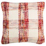 Safavieh Woven Plaid Throw Pillow