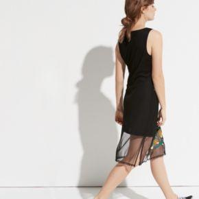 k/lab Floral Mesh Midi Dress
