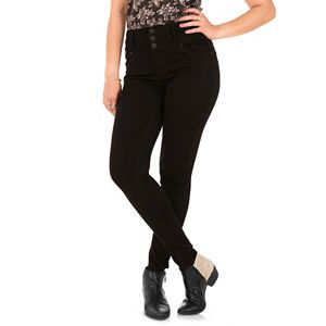 Juniors' Wallflower Sassy Push Up Push In Skinny Jeans