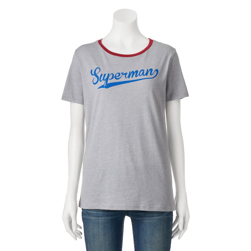 Juniors' DC Comics Superman Contrast Graphic Tee